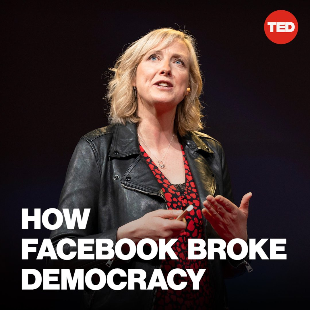 """My question to you is, is this what you want? Is this how you want history to remember you? As the handmaidens to authoritarianism?""  Watch as @carolecadwalla calls out the ""gods of Silicon Valley"" for being on the wrong side of history: http://t.ted.com/OuxHYs3  #TED2019"