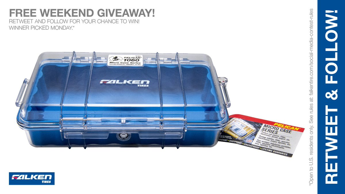 2nd day #Falken weekend @PelicanProducts 1060 Micro Case #giveaway #contest. RT & follow #FalkenTire to enter to #win this #prize or other #swag! Rules:  http:// bit.ly/2grA0A4     <br>http://pic.twitter.com/DI7NOFPDuS