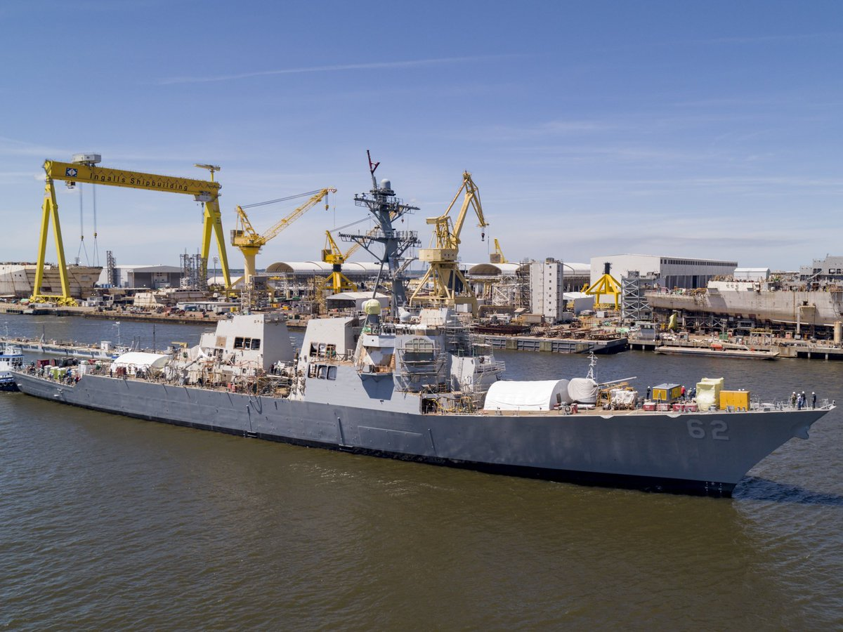 .@USNavy ship #USSFitzgerald #DDG62 leaves dry dock, continues repairs pierside in Pascagoula. Here are the details.  https://www.navy.mil/submit/display.asp?story_id=109278 …