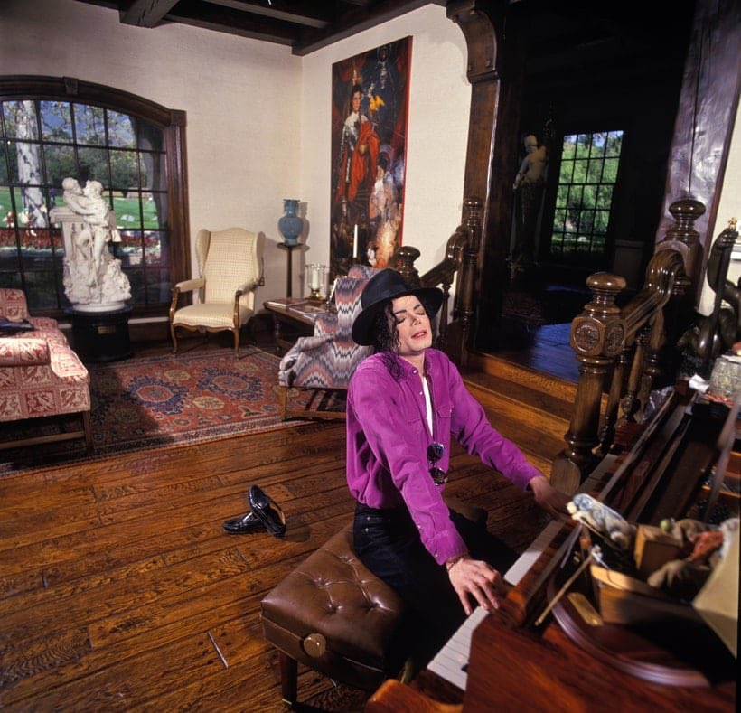 Image result for michael jackson in his home