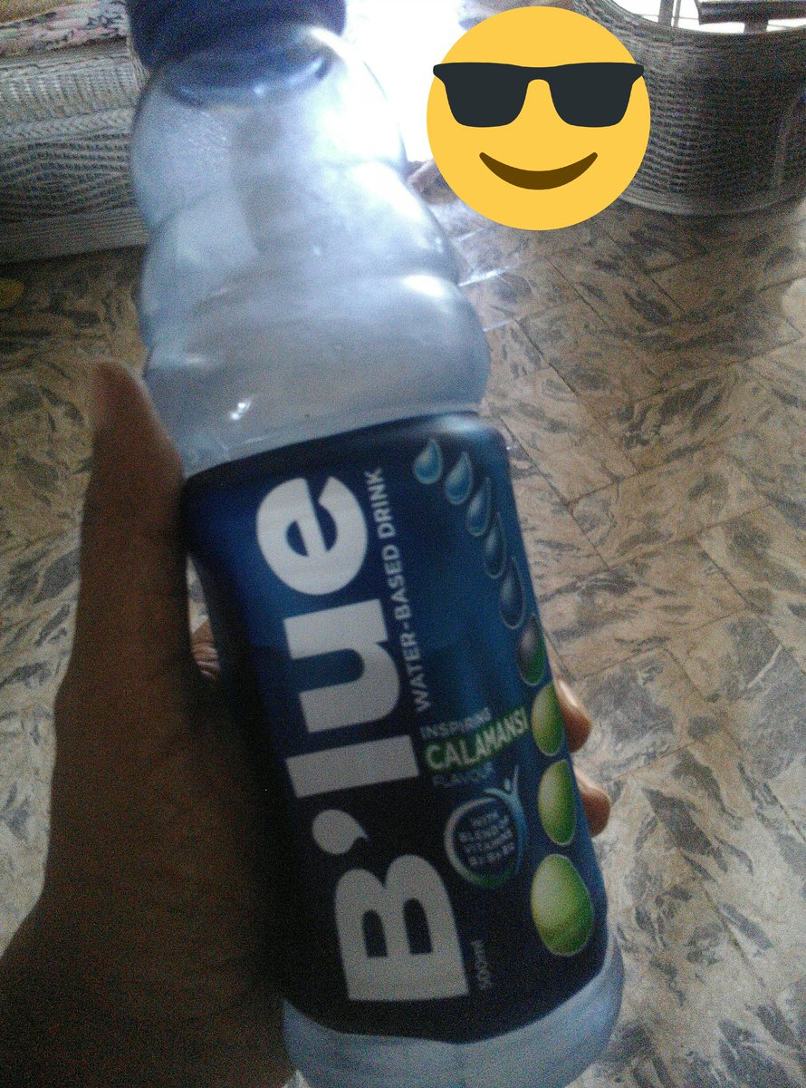 Thirst quencher for this scorching heat. I love this calamansi flavor.  #LiveForBlue #QuenForBlue