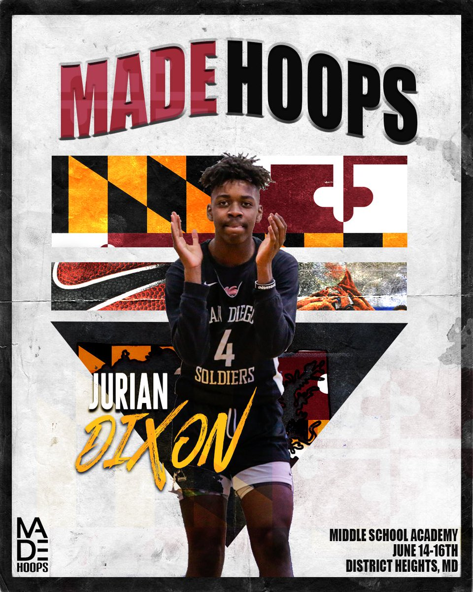 After leading the #WestLea8ue in scoring this winter, 2023 G Jurian Dixon is ready to put Cali up against the best of the best on the East Coast. He's locked in 🔐 for Middle School Academy Camp!   The BEST attend #MADEAcademy! Will YOU be there?  🎟: http://madehoops.com/middleschoolacademy …
