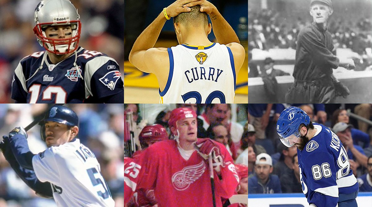 Single-Season Win Record Holders:  2007 Patriots: Lost Super Bowl  2015-16 Warriors: Lost NBA Finals  1906 Cubs: Lost World Series  2001 Mariners: Lost ALCS  1995-96 Red Wings: Lost Conf. Finals  2018-19 Lightning: Lost Opening Round