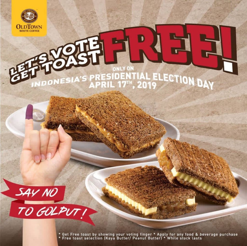 Ayo datang ke TPS karena suaramu penting untuk masa depan Indonesia. Abis itu banyak pilihan promo menantimu 😊 Part 4/4 #Pemilu2019 #promopemilu #SiapapunPresidennya https://t.co/6tGopAw48Q