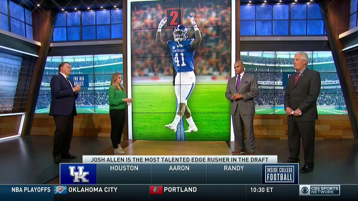 Josh Allen made dynamic plays all season for @UKFootball.  @AaronTaylorCFB, @RandyCrossFB, and @CBSCoachNutt wonder if he's the most talented edge rusher in this draft.