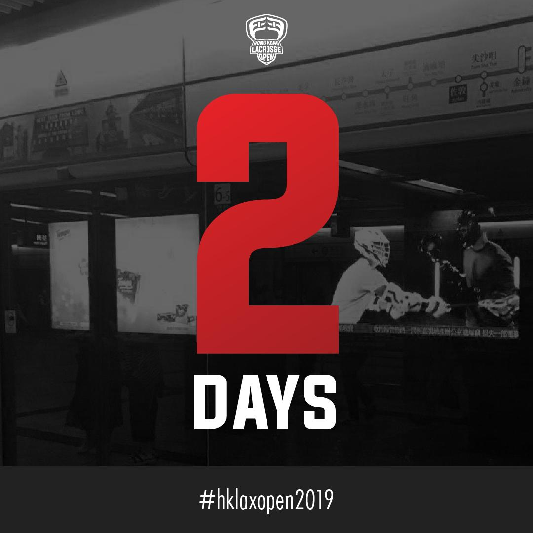 2 DAYS!!! Kicks-off the 2019 Hong Kong Lacrosse Open featuring 21 Teams, 60 Games and livestream of the Championship game. Go to https://t.co/D6tn8xbQwn to check out the full tournament schedule. #hklacrosseopen2019 @hklacrosse