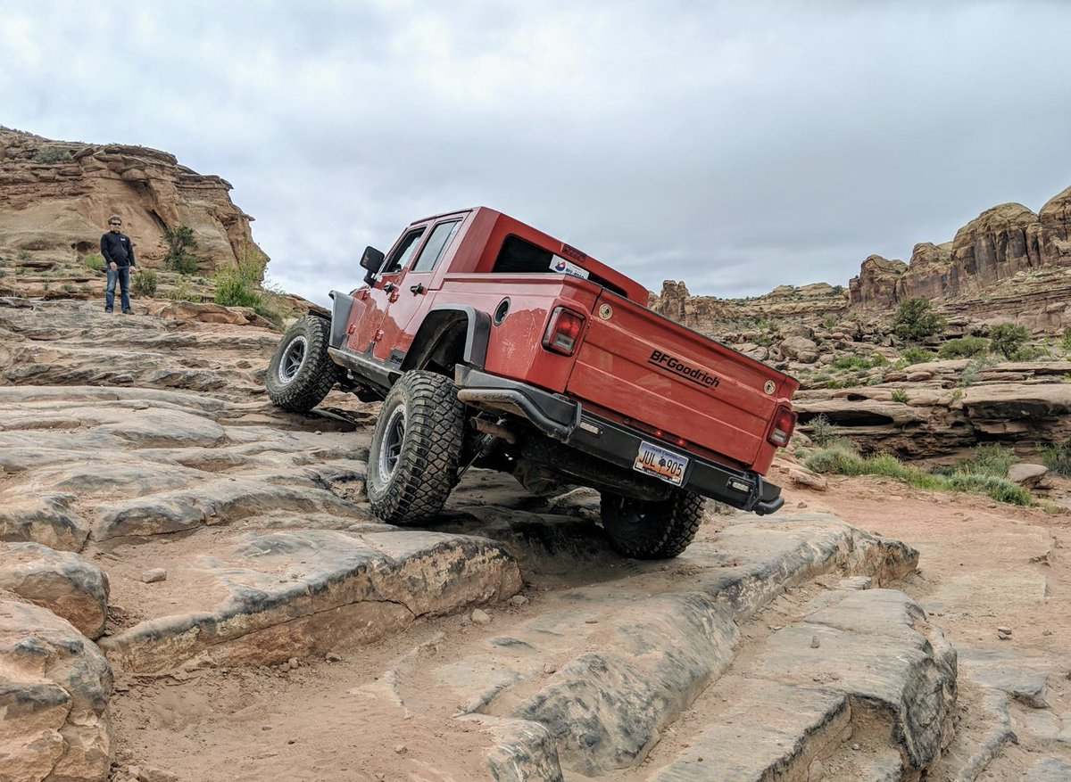 A little stair-climb action as the @BFGoodrichTires Brute climbs an obstacle on Cliffhanger Trail in Moab, Utah. #BuiltonBFG #easterjeepsafari #jeepsafari #jeeplife #utah #offroad<br>http://pic.twitter.com/1KcFaZYgwT