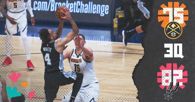 نهاية الربع الثالث   #GoSpursGo | #NBAPlayoffs