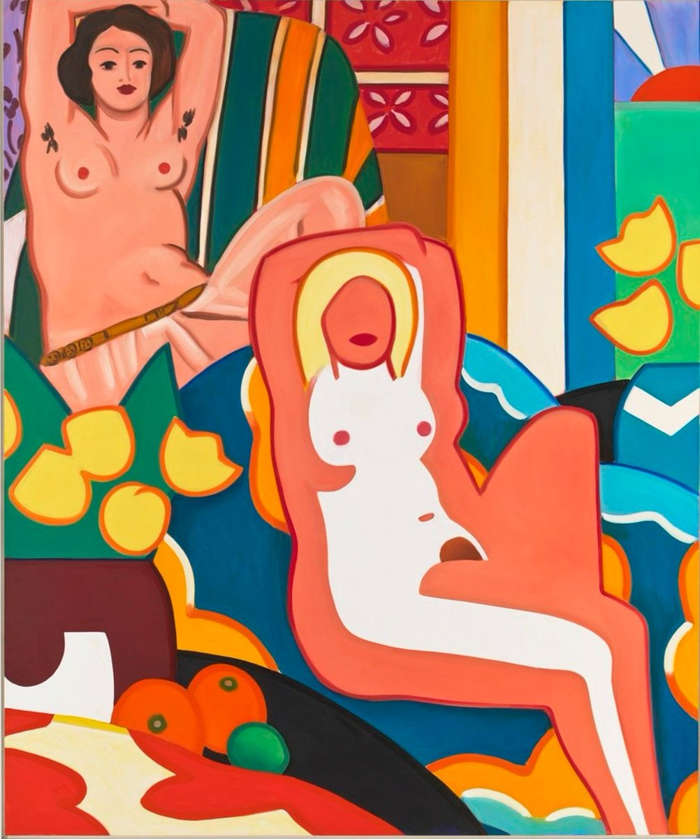 🎨 Tom Wesselmann and Matisse (1) Sunset nude with Matisse odalisque by Tom Wesselmann