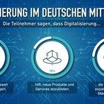 Image for the Tweet beginning: 92% der befragten Unternehmen einer