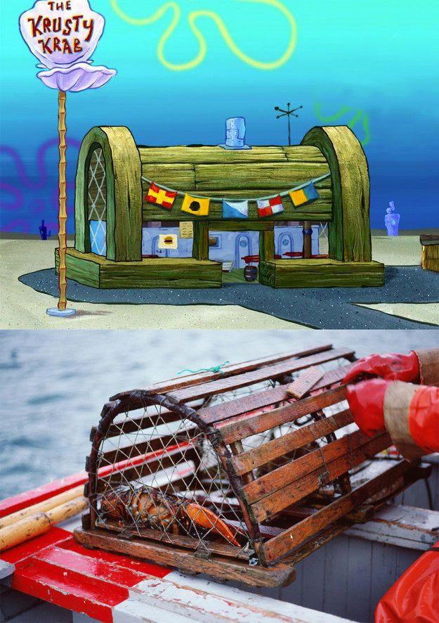 In SpongeBob, the Krusty Krab isn&#39;t a treasure chest.  It&#39;s a crab trap. (: Nickelodeon/Thinkstock) <br>http://pic.twitter.com/oMzXzd6HFj