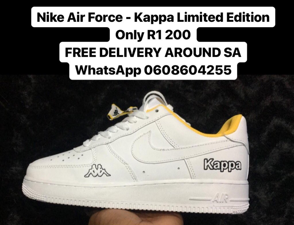 buy popular 4497c 29213 Nike AirForce - Kappa Limited Edition Only R1 200 FREE DELIVERY AROUND SA  WhatsApp 0608604255