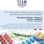 Pharma et Biotech : rendez-vous en République tchèque et en Hongrie en octobre  Organisées par Team France Export, ces Rencontres d'affaires auront lieu à Prague les 14 et 15 octobre 2019 et à Budapest les 16 et 17 octobre 2019 https://t.co/W6AXxh8Ld9 @CCI_Fr_Inter @BF_sante