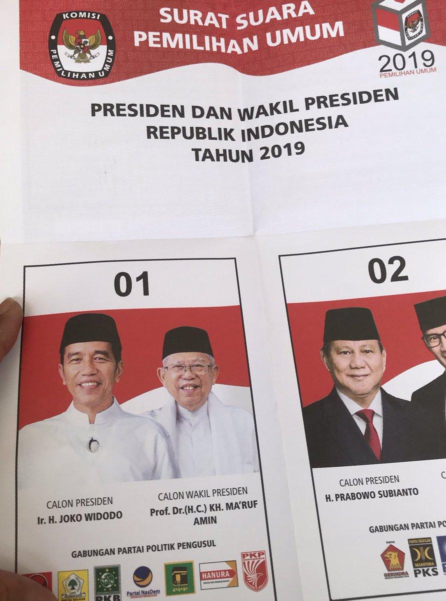 Suaraku untuk mu @jokowi #Pilpres2019 #JokoWinElection
