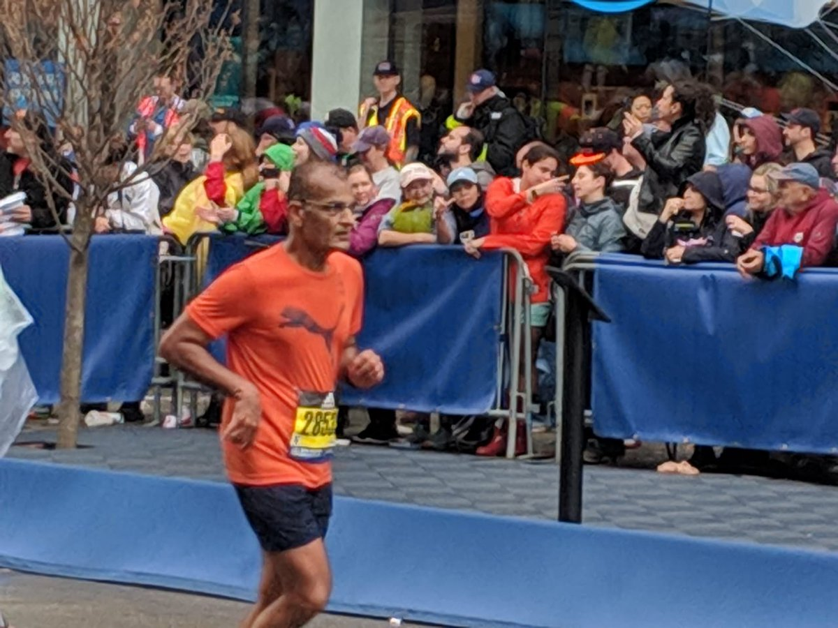 """""""@BostonMarathon Done and dusted! Now for the next challenge"""" says @rasheshshah as he completes the world's oldest & most challenging run which saw 30,000+ runners from around the world battle rain and thunderstorm. Congratulations from all @edelweissfin #BeUnlimited #Boston2019 <br>http://pic.twitter.com/Syephf2Ney"""