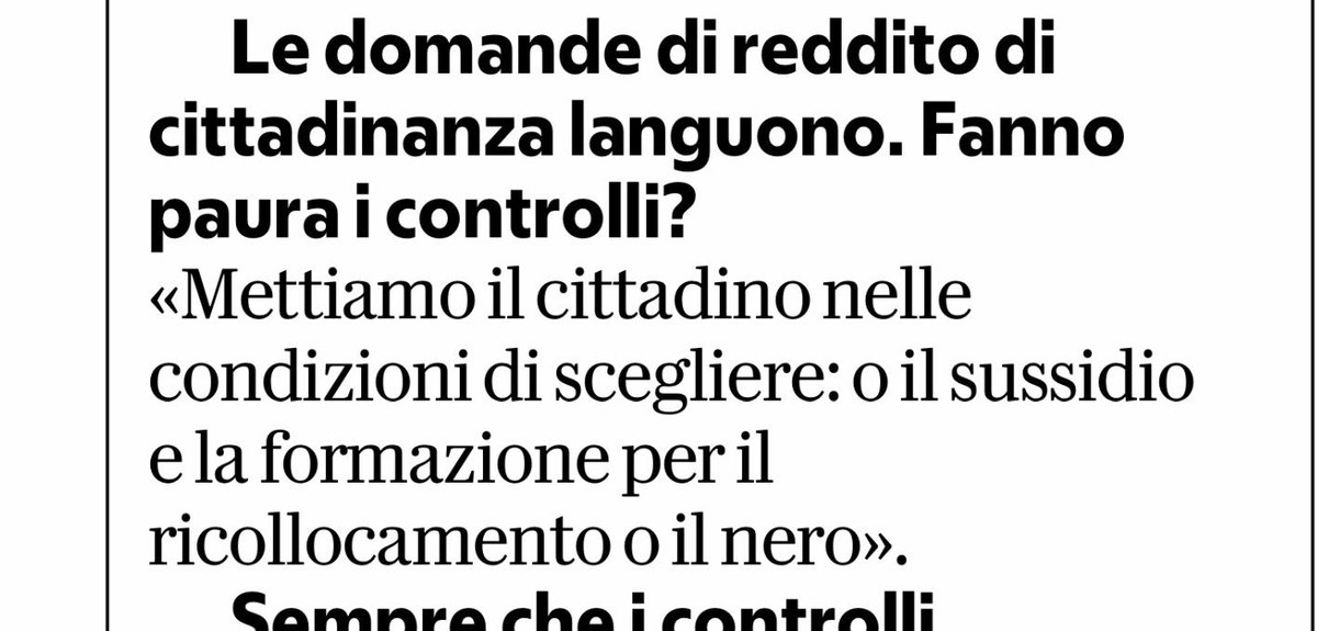 Niente male questo passaggio dell'intervista di Laura Castelli a Rep.