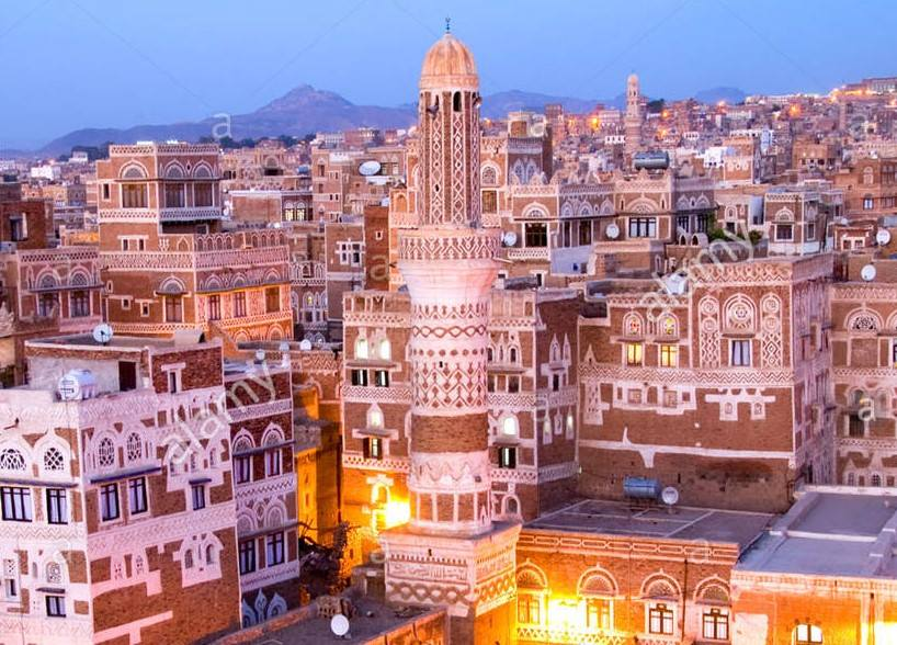 I was deeply saddened over #NotreDame, but there is a 2500 years old world heritage, the city of Sana&#39;a, which every day bombs by France, UK, Germany-made bombs, and shamelessly Media censor its news. #YemenForgottenWar <br>http://pic.twitter.com/s7fraytscQ
