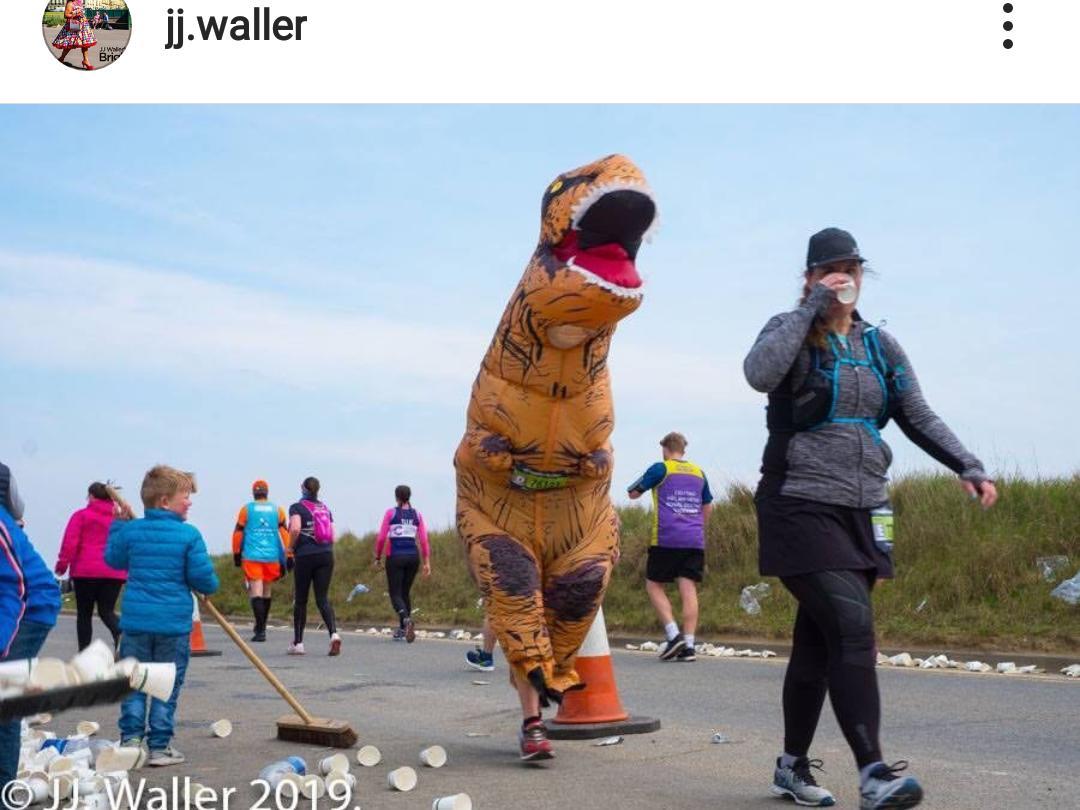 T-Rex marathon runner.