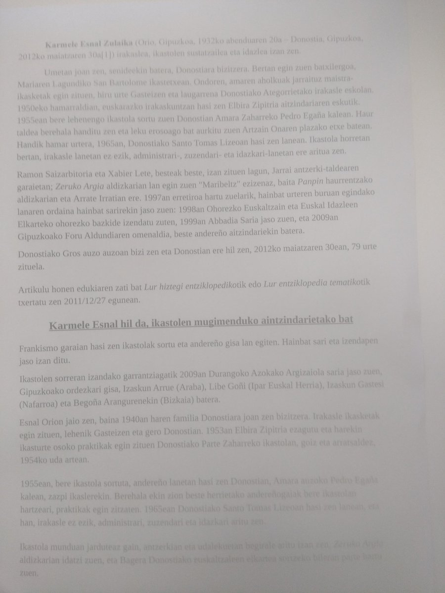 Donostiako Udalbatzak gaur onartu du Karmele Esnal lorategia Eta Joseba Elosegi begiratokia izendatzea.Aberri honetako bi izan handi,orain izenez ere gure espazioan betirako egongo direnak.