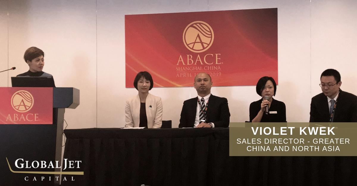 Kicking off day 1 of #ABACE2019, our very own Violet Kwek shared her Business Jet Financing expertise on panel at the conference. #bizav #abace
