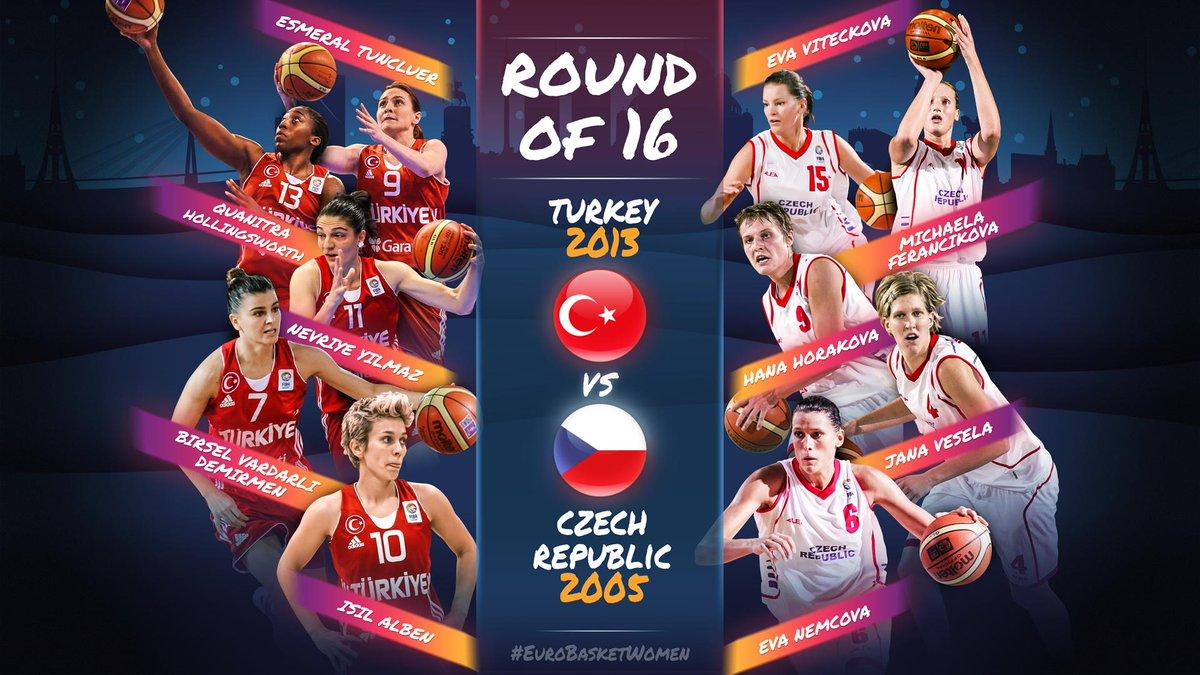 🚨 ROUND OF 16 - MATCHUP 1 🚨   🇹🇷 Turkey 2013 🆚 Czech Republic 2005 🇨🇿  Vote in the poll below 👇? #EuroBasketWomen