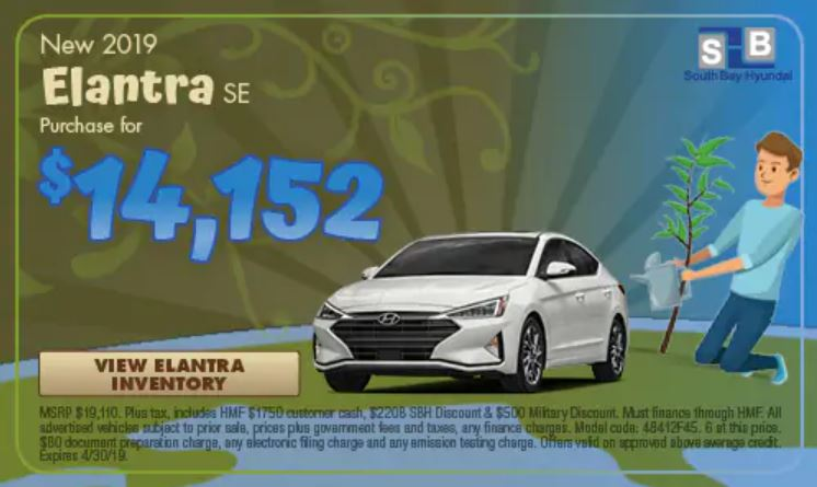 Purchase An All New 2019 Hyundaielantrase For As Low 14 152 From South Bay Hyundai Head On Over To Our Website Check Out Available Inventory