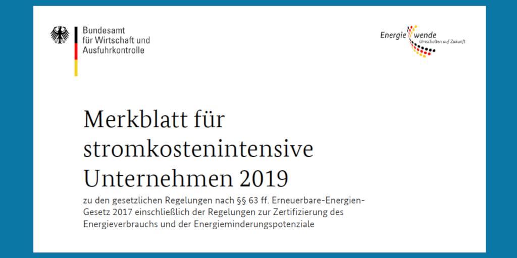 test Twitter Media - Besondere Ausgleichsregelung: Merkblatt für stromkostenintensive Unternehmen 2019 veröffentlicht. #BesAR #EEG #Mittelstand https://t.co/XhtKpYhI15 https://t.co/7huyiO3sRO