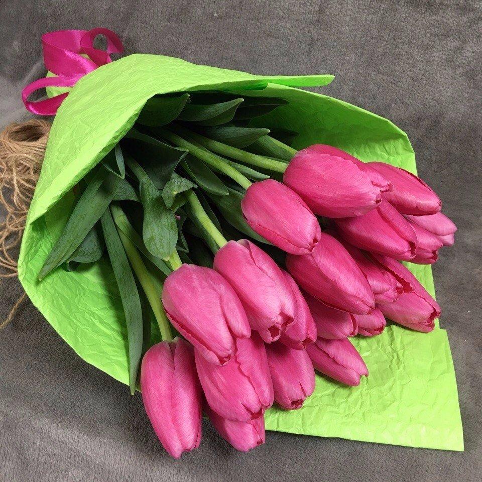 Букет тюльпанов 15 штук купить, магазин