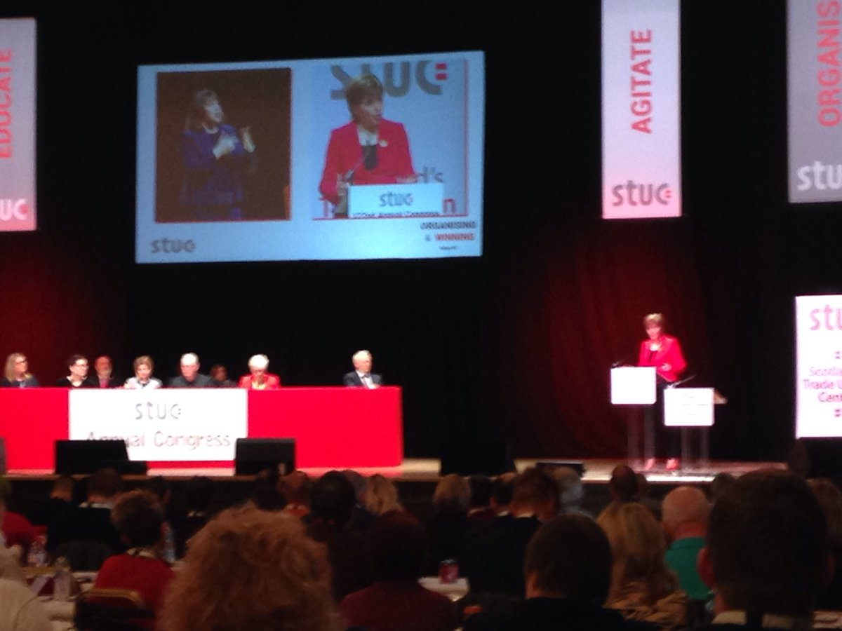@ProspectUnion is very proud of its political neutrality - but we appreciate the value of having a political leader who is a genuine friend to the Trade Union movement and who is happy to say so #STUC19