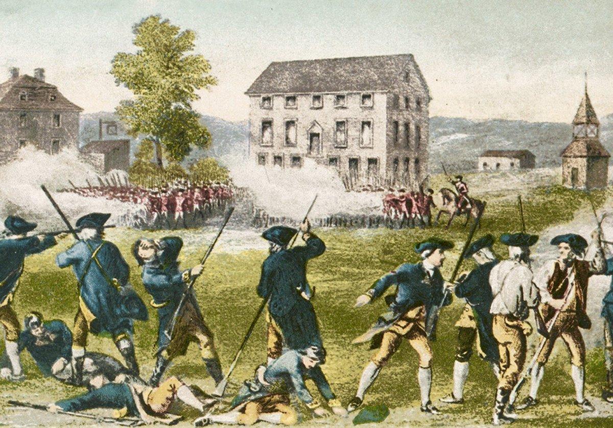 Minutemen met Redcoats this week 1775 in Battles of Lexington and Concord, opening America's Revolutionary War:
