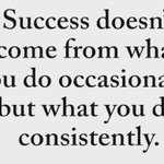 Image for the Tweet beginning: Consistency is 🔑