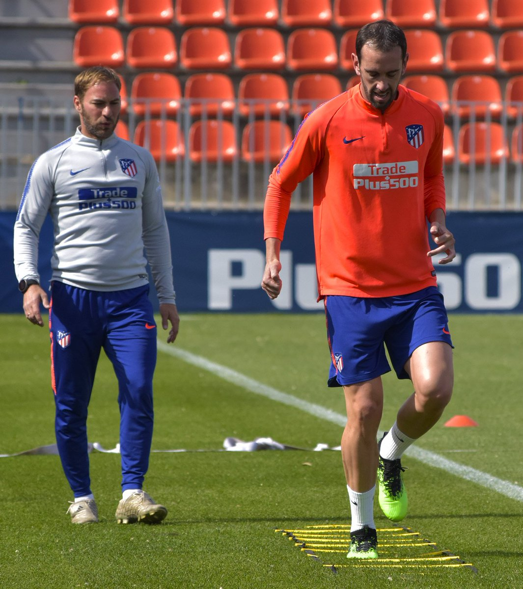 Entrenamiento de Godín (Foto: Atleti).
