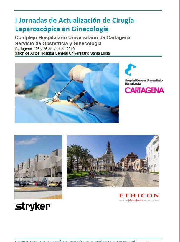 """El hospital Santa Lucía acogerá los próximos días 25 y 26 de abril las """"I Jornadas de Actualización de Cirugía Laparoscópica en Ginecología"""" @Murciasalud"""