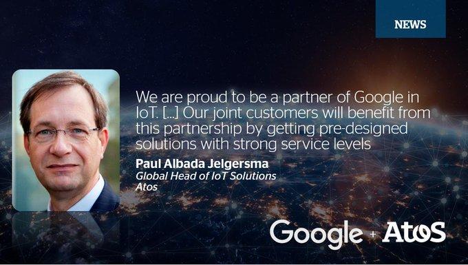 """Atos nominado """"Partner especializado en IoT"""" por @GoogleCloud. Reconoce sucapacidad, exper..."""