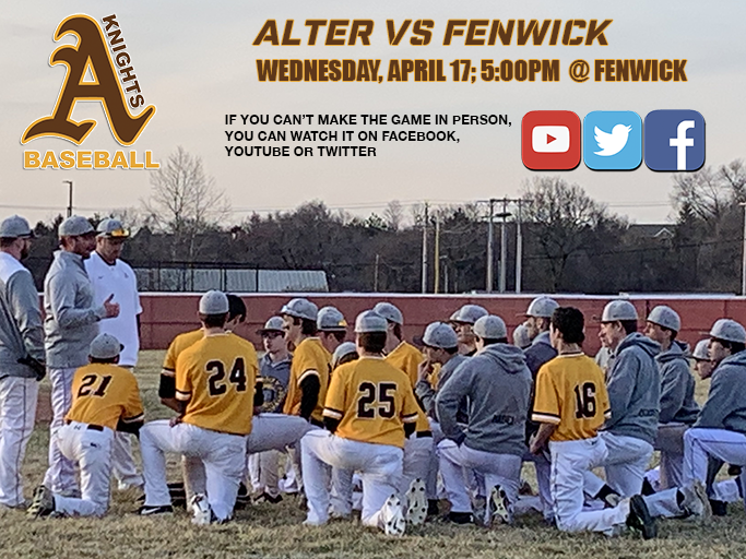7e52c2cc143 Alter back in action tonight at Fenwick. First pitch is 5PM. If you can t  be there in person