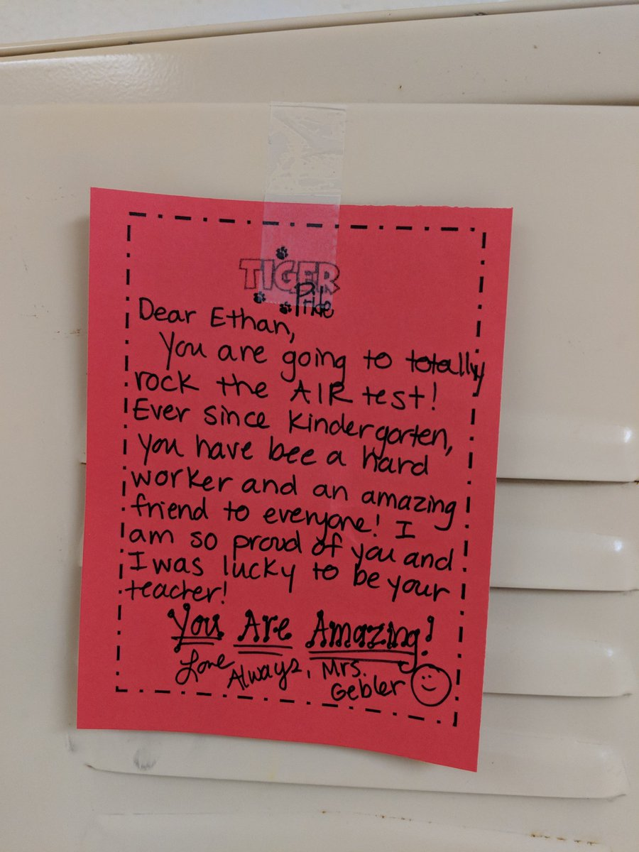 Silver lining of 3rd graders having to take State Tests...seeing all the notes of encouragement on their lockers from their Kdg-2nd Gr. tchrs, Encore Tchrs, Interventionists, Admin/Counselor, etc ! Being a school COMMUNITY means everything! #relationships #showthemyoucare #CFEVS<br>http://pic.twitter.com/KgOukW6BWo