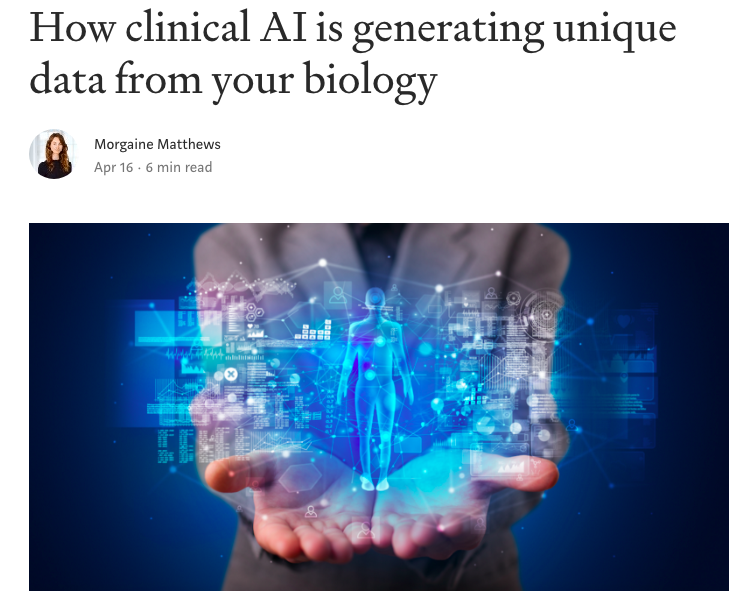 'HOW CLINICAL AI IS GENERATING UNIQUE DATA FROM YOUR BIOLOGY' A recent article published in Medium about SIME, featuring our founders Prof Hoskuldsson and Prof Verder. #clinical #ai #data #medium #medicine #clinicalai #digitalhealth #machinelearning https://link.medium.com/Y47pzHxeWV