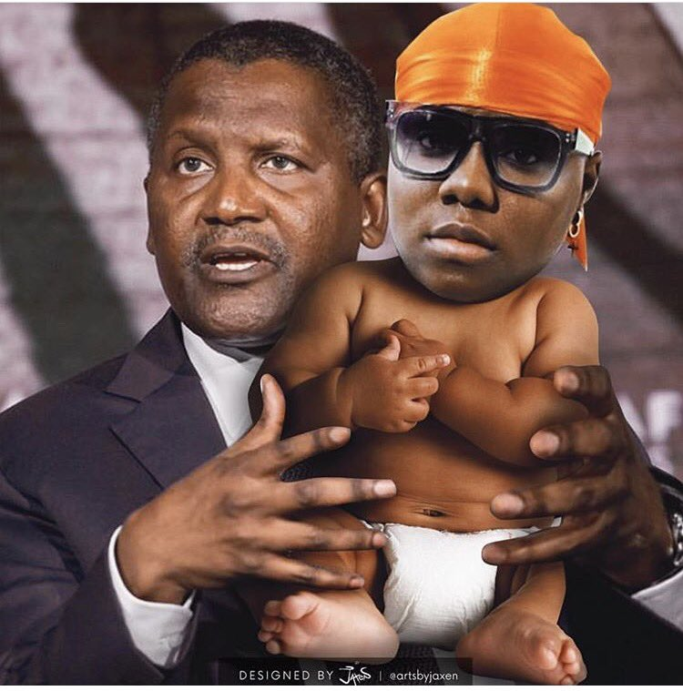 """Singer Teniola Apata Announces Release Date Of """"Sugar Mummy"""", Shares Her Photoshopped As A Baby With Dangote"""