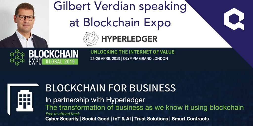 Get your tickets to @Blockchain_Expo on 25-26 April 2019 where our CEO @gverdian will be speaking about blockchain #interoperability for Enterprise in partnership with @Hyperledger.
