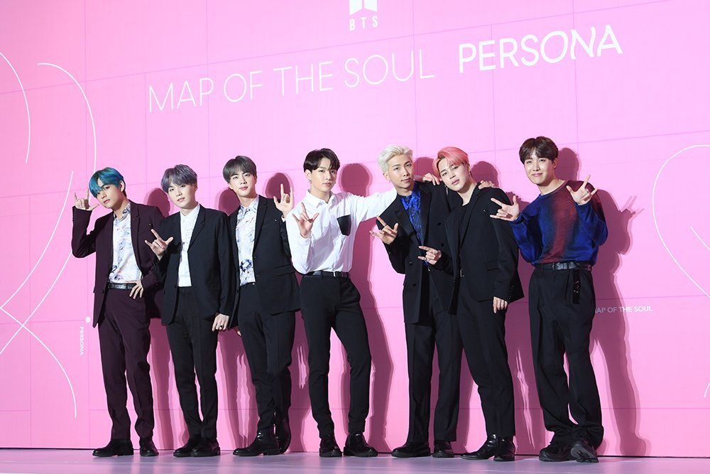 """- @BTS_twt wearing #Berluti looks by Artistic Director Kris Van Assche to the """"Map Of The Soul: Persona"""" Press Conference in Seoul on April 17th - #BTS #방탄소년단 @bts_bighit"""