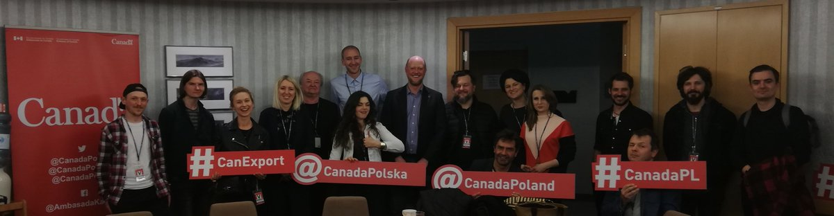 Thrilled to preview the #MusicExportPoland to @CMW2019 including great performance by #CheapTobacco at #CanadaPL Embassy in Warsaw!  Thank you to @Canadian_Live @CMW_Week @chaptwo for #Canada market insights.pic.twitter.com/w0Z4xb6rTX