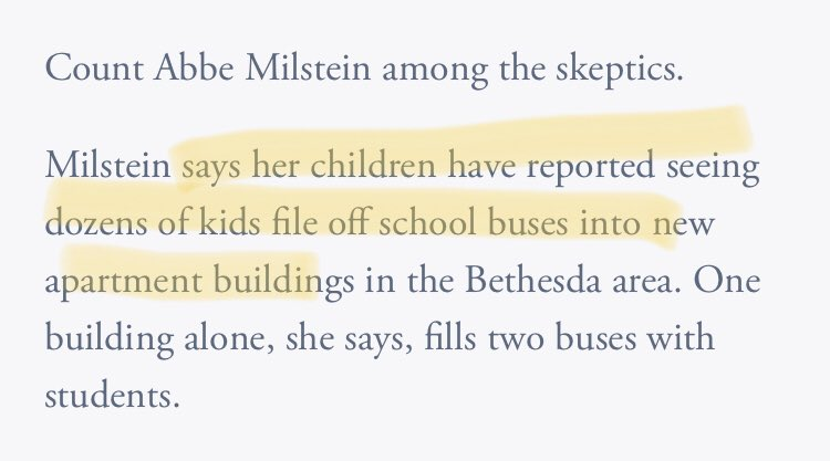 """🚨dog whistle alert🚨 """"those kids in apartments are filling up *my* school, which I paid lots of money for a house near"""""""