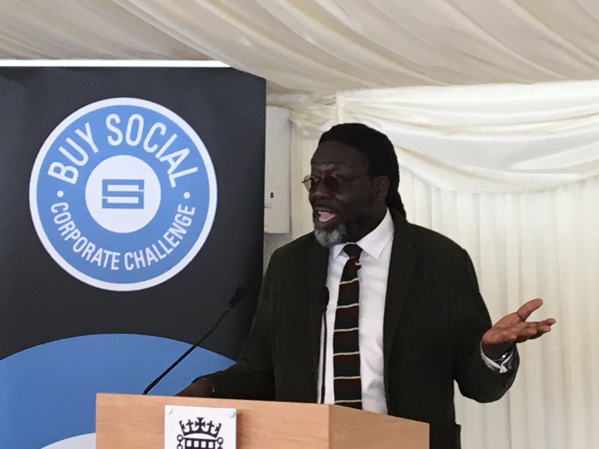 """""""We are part of something that is going to change the face of business"""" Lord Abedowale #buysocial #teamscape"""