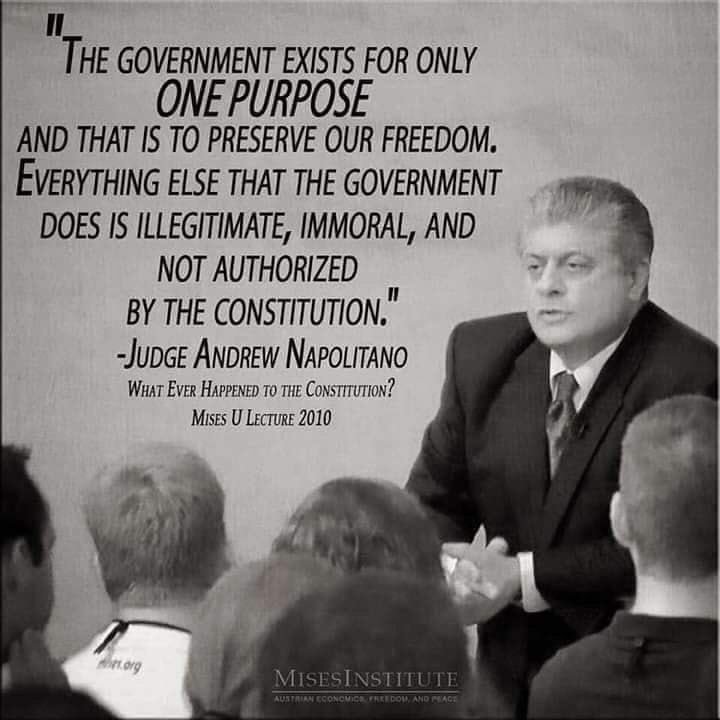 Pretty sure 95% of the Federal Government is illegitimate, immoral, and not authorized by the Constitution.