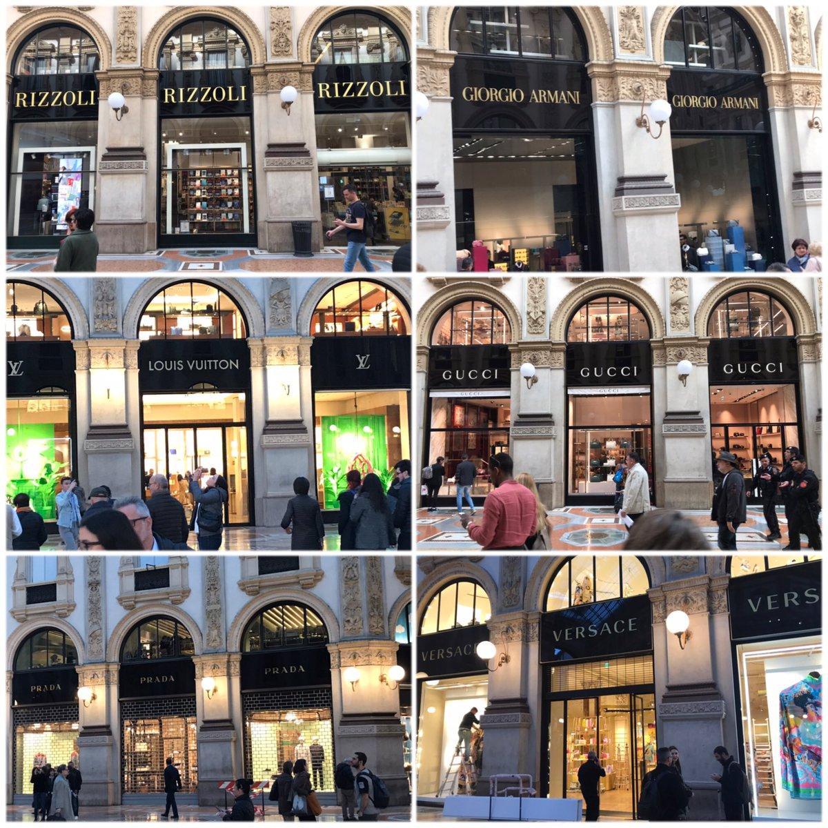 Wollte noch mal einkaufen in #Mailand in der GALLERIA VOTTORIO EMANUELE - nach Blick in die #Brieftasche habe ich es doch bleiben lassen 😅
