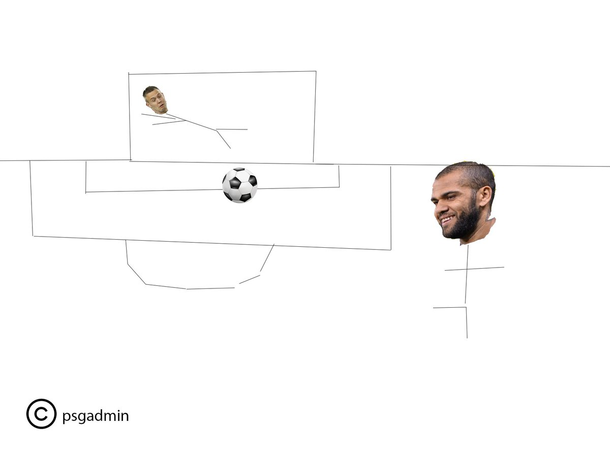 👨🎨 For those unable to watch the game, PSG admin has painstakingly constructed a digital rendering of @DaniAlvesD2' strike for your reference.