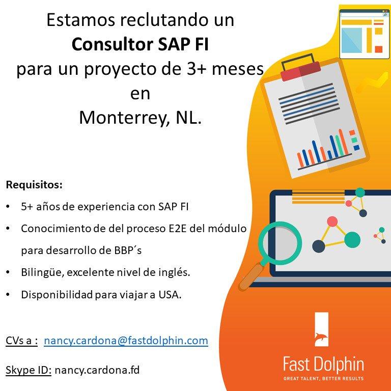 Fast Dolphin On Twitter Sap Fi Proyecto En Monterrey