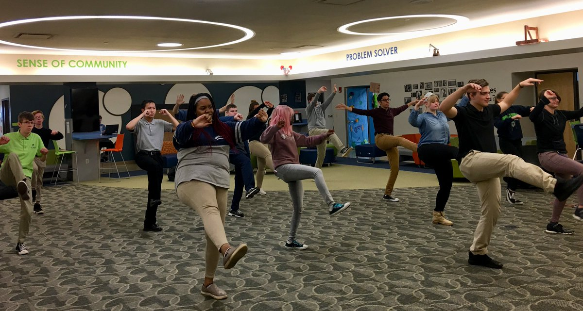 One of the relaxation stations juniors got to try today during flex time was a tai chi station! #OurBMSA