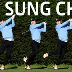 Image for the Tweet beginning: Golf's most unique swing will