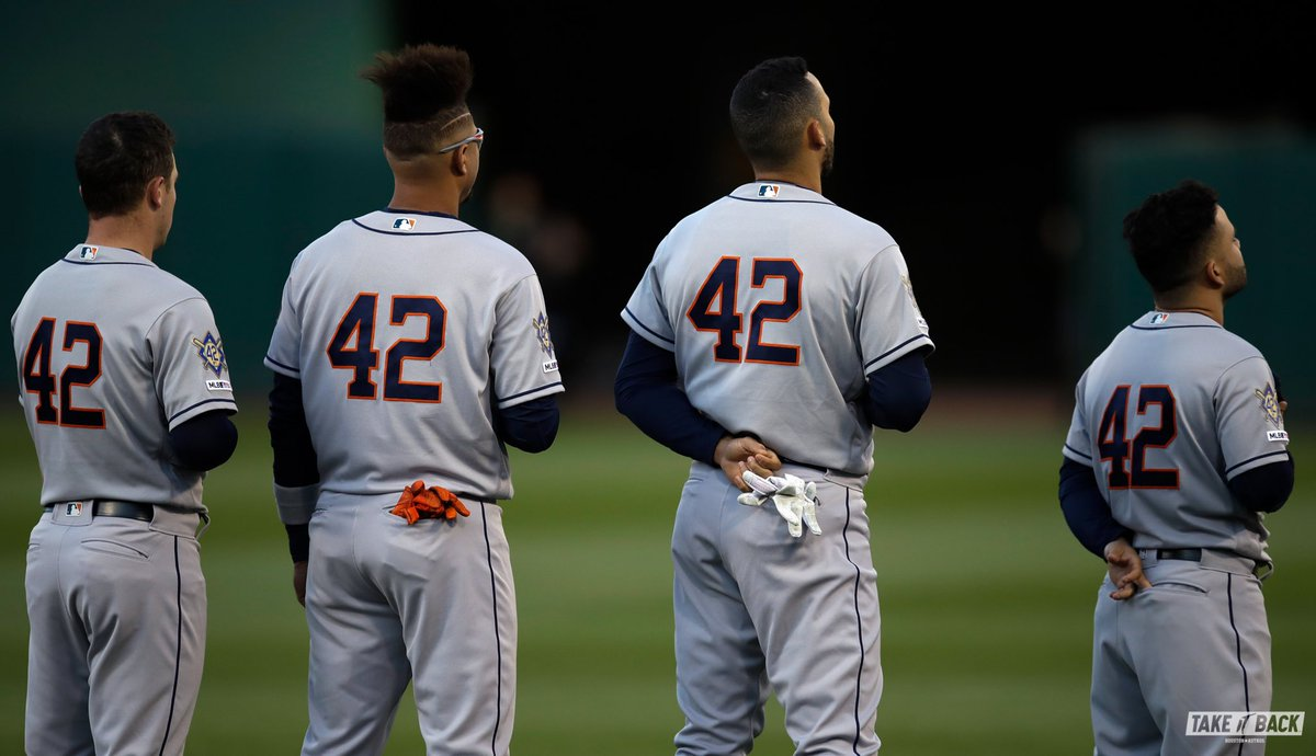 Yesterday we all wore 42. #Jackie42   #TakeItBack <br>http://pic.twitter.com/8H7WclpBFn